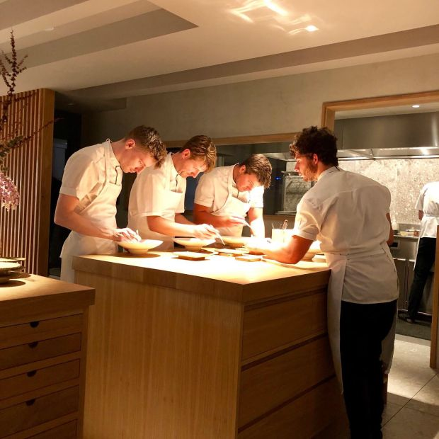 Aimsir: chefs at the pass, which sits in the dining room