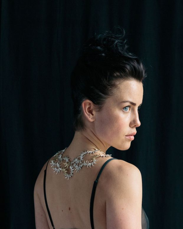 A silver jaw neck piece by Emer Roberts (€3,900) at The Collective