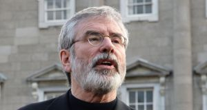 Former  Sinn Féin leader Gerry Adams:  'A party that calls itself the Democratic Unionist Party have to recognise that the majority of people voted to remain within the European Union.'  File photograph: Eric Luke/The Irish Times