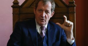 Alastair Campbell  addresses The Phil debating society  at Trinity College Dublin Photograph: Laura Hutton