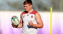 England's Owen Farrell during a training session ahead of the Rugby World Cup quarter-final against Australia. Photo: David Rogers/Getty Images