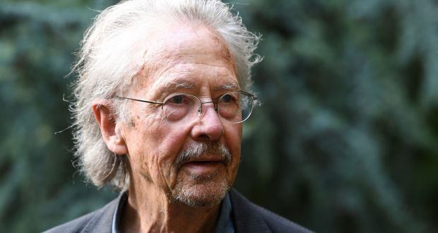 Austrian writer Peter Handke complained that journalists had bombarded him with questions about his political views without trying to engage with his writing. Photograph: Alain Jocard/ AFP/ Getty Images