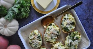 Twice-baked colcannon potatoes