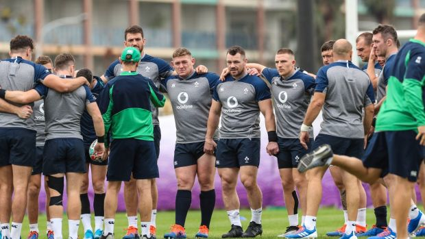 Rugby World Cup 2019 Ireland Rugby Training Arcs Urayasu Park Chiba Tokyo 17/10/2019Ireland listen to head coach Joe Schmidt during the trainingMandatory Credit ©INPHO/Billy Stickland