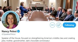 Patron saint of shade: Nancy Pelosi's new Twitter cover photograph