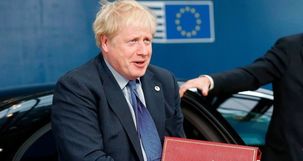 British prime minister Boris Johnson arrives for an EU summit  in Brussels. Photograph: Julien Warnand/Pool/AFP via Getty Images