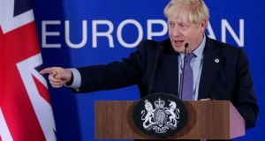British prime minister Boris Johnson: 'I am very confident that when my colleagues in Parliament study this agreement that they will want to vote for it on Saturday and in succeeding days.' Photograph:  Stephanie Lecocq/EPA