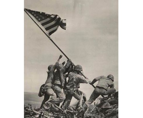 MISTAKEN IDENTITY: Six US soldiers raising the US flag atop Mount Suribachi on the Pacific island of Iwo Jima, on February 23rd, 1945. The US Marines Corp has said a mistake had been discovered on the identity of the soldiers raising the US flag. Photograph: Joseph Rosenthal/The National Archives/AFP via Getty Images