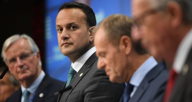Taoiseach Leo Varadkar at the European Council summit in Brussels. Photograph: Stefan Rousseau/PA Wire
