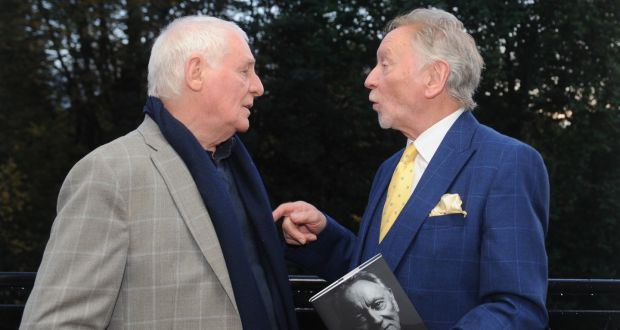 Phil Coulter at the launch of his book, Bruised Never Broken, with broadcaster Eamon Dunphy who said the book was 'fantastic'. Photograph: Aidan Crawley