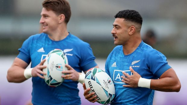 Richie Mo'unga wil start at outhalf for the All Blacks with Beauden Barrett at fullback. Photograph: Hannah Peters/Getty