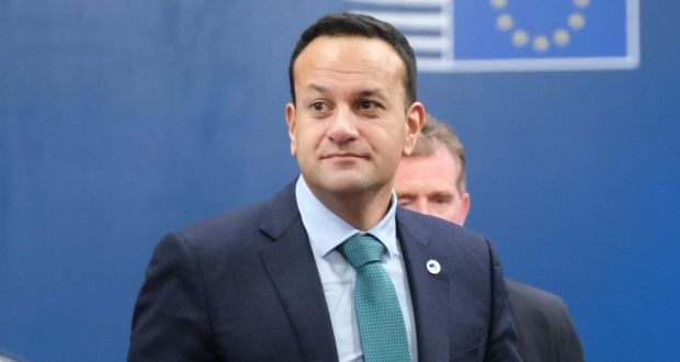 Taoiseach Leo Varadkar arrives for the second day of a two-day summit of European Union leaders in Brussels on Friday. Photograph: Sean Gallup/Getty Images