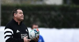 New Zealand head coach Steve Hansen at the captain's run on Friday ahead of the Rugby World Cup quarter-final against Ireland in Tokyo on Saturday. Photograph:   Anne-Christine Poujoulat/AFP via Getty Images