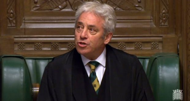 Speaker John Bercow. Photograph: UK Parliamentary Recording Unit handout