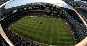 Numbers employed by Scott Tallon Walker, co-designer of the Aviva Stadium, reduced last year from 95 to 85. Photograph: ©INPHO/Ryan Byrne