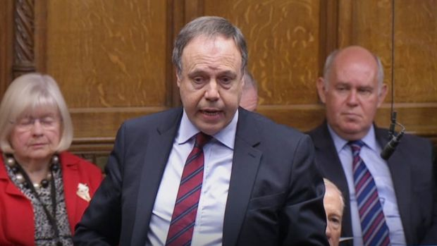 DUP deputy leader Nigel Dodds addressing the House of Commons. Photograph: House of Commons/PA Wire