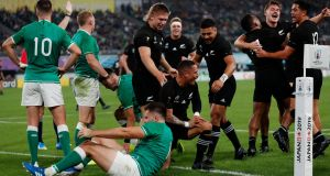 Ruthless New Zealand crush Ireland's Rugby World Cup hopes