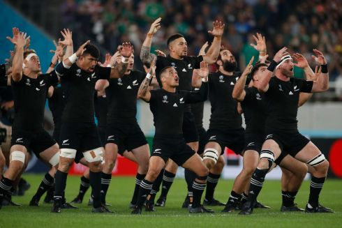 New Zealand's players perform the haka before the match.  Photo: Getty Images