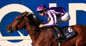 Magical ridden by Donnacha O'Brien wins the  Champion Stakes. Photo: Simon Cooper/PA Wire.