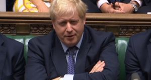 Prime minister Boris Johnson in the House of Commons. Photograph: PRU/AFP via Getty Images)