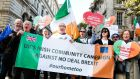 Britain's Irish community raises its voice at Brexit protest