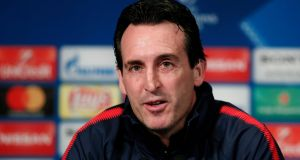 "Unai Emery: ""We can be positive and we can think we are going to do something important this year."" Photograph:  Ian Langsdon/EPA"
