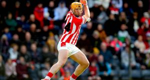 Imokilly's Declan Dalton scores his side's first goal of the game during the Cork SHC final. Photo: Ryan Byrne/Inpho