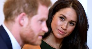 Meghan Markle: 'It's not enough just to survive something, right? That's not the point of life. You've got to thrive. You've got to feel happy.' Photograph: Toby Melville/Pool/AFP via Getty
