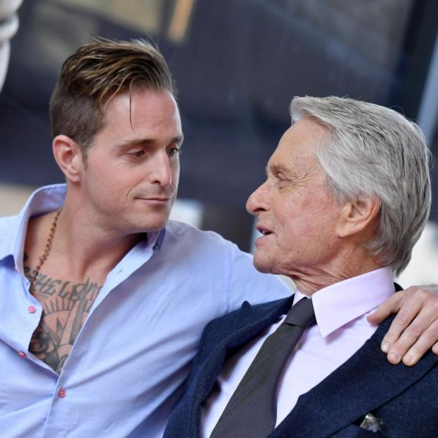 Cameron Douglas with his father, Michael Douglas, in 2018. Photograph: Axelle/Bauer-Griffin/FilmMagic/Getty