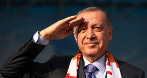 Turkish president Recep Tayyip Erdogan: he knows   the EU's deepest fear is around refugees, and will ruthlessly exploit it as he tries to escape serious censure for Turkey's operation against Kurdish-led forces in northeastern Syria. Photograph: Reuters