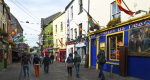 Shops in Galway city. Photograph: Education Images/Universal Images Group via Getty Images