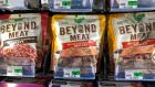 Vegan products to make burgers   from Beyond Meat. Photograph: Reuters