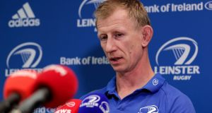 "Leo Cullen: ""Everyone assumes that we [Leinster] won't be as bad as we were four years ago. What's to say otherwise?"" Photograph: Laszlo Geczo/Inpho"