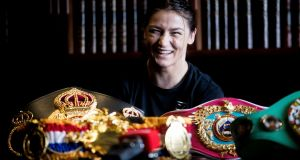 Katie Taylor: bidding to add another title belt to her already impressive  collection. Photograph: Tommy Dickson/Inpho