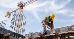 The number of non-fatal injuries on construction sites looks set to be lower this year, with 633 injuries recorded compared with 838 last year. Photograph: iStock