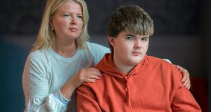 Marguerite Wilson and son Jack (15). He has autism and was unable to get a place in secondary school for a year. Photograph: Michael Mac Sweeney/Provision