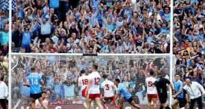 The avid GAA supporter said he was 'elated' and in 'high spirits' after the Dublin football team won the 'four in a row' last year. Photograph: Ryan Byrne/Inpho