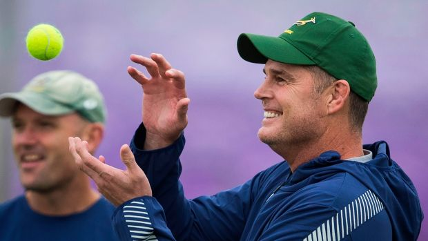 Rassie Erasmus's South Africa face Wales in the World Cup semi-finals. Photograph: Odd Andersen/AFP/Getty