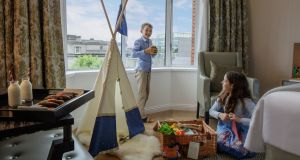 Family room rates at the Conrad start from €571 per room per night, including breakfast, for two adults and two children under 12