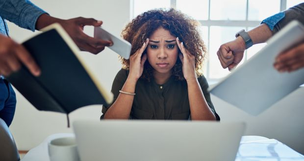 Research shows women in professional services tended to be the happiest at work while women in banking and financial services were the most unhappy. Photograph: Getty Images