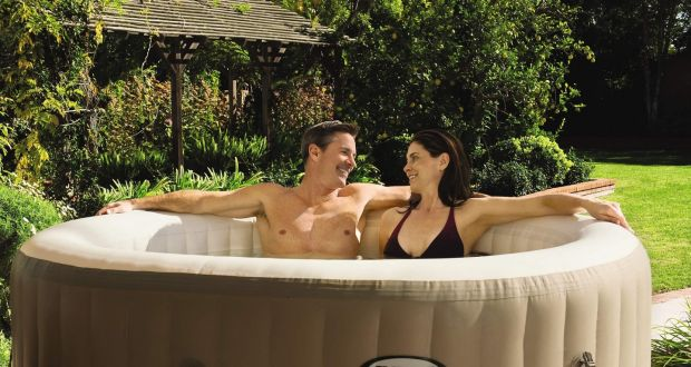 "An Aldi hot tub, which sold out online within hours. The budget supermarket made a splash when it revealed the inflatable four-person Spa Pool, featuring ""120 jets and a powerful heater for ultimate comfort"". Photograph: Aldi/PA"