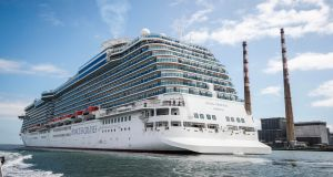 The Royal Princess cruise ship. Photograph: Conor McCabe