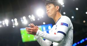 Tottenham Hotspur's Heung-Min Son leaves the pitch after being subbed off during the Champions League clash with Red Star Belgrade. Photo: Stephen Pond/Getty Images