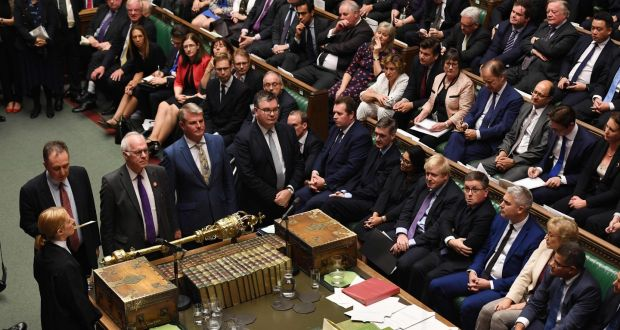House of Commons MPs announcing the result of a vote setting out the proposed timetable for the Brexit withdrawal Agreement Bill . Photograph: JESSICA TAYLOR/UK PARLIAMENT/AFP via Getty Images