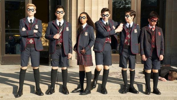 The cast of The Umbrella Academy. Photograph: Christos Kalohoridis/Netflix