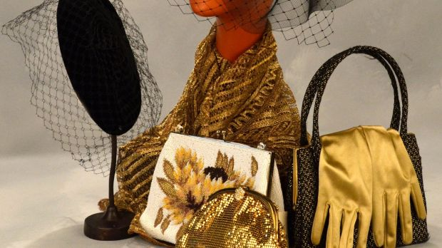 Handbags and glad rags from Eily Henry's stand, (€30-€200)
