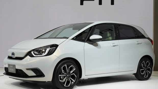 the big news from Honda is the new Jazz - known as Fit in Japan - which will be available as hybrid only