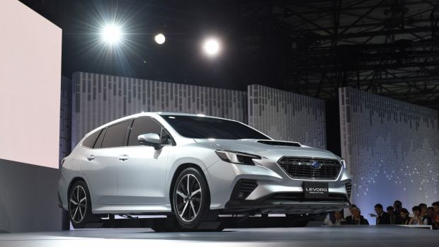 at Subaru it seemed like a travel back in time as the company launched a prototype of the next generation Levorg, a family estate with a new 1.8-litre petrol engine
