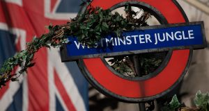 Everything is  vine: Westminster tube station is rebranded as Westminster Jungle in a newspaper promotion. Photograph: Leon Neal / Getty Images