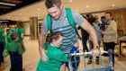 Ireland's Peter O'Mahony arriving at Dublin Airport on Tuesday. Photograph: Morgan Treacy/Inpho